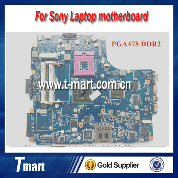 100% working Original laptop motherboard FOR SONY VGN-NW A1747079A MBX-217 M851 1P-0096501-8010 PGA478 DDR2 Fully tested