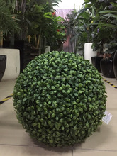 outdoor green hanging artificial topiary grass balls for holiday decor