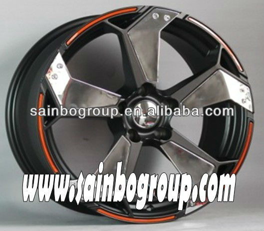 Chrome Spoke 5 Hole Alloy Wheels Rims For Cars