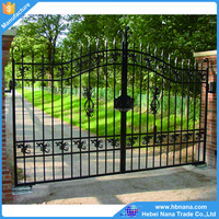 Customized Sliding Decorative Metal Garden Gate / iron garden gate grill design