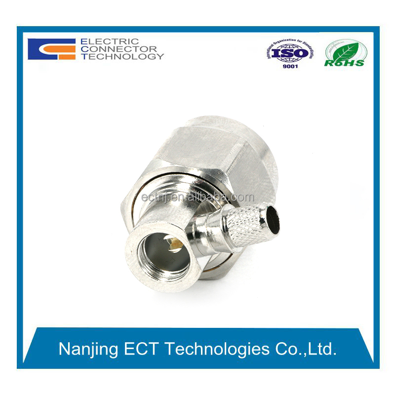 N Male Right Angle RF Coaxial Connector Crimp for RG223 Cable