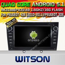 WITSON Android 5.1 CAR DVD For PEUGEOT 408 (2010-2011)/PEUGEOT 308 WITH CHIPSET 1080P 16G ROM WIFI 3G INTERNET DVR SUPPORT
