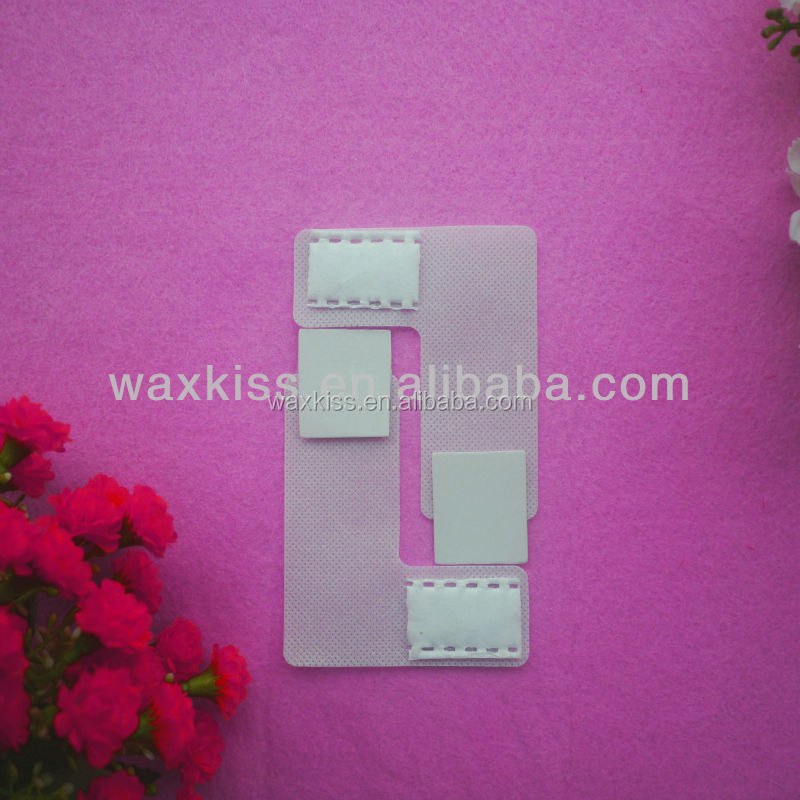 L-shaped nail art polish remover wipes