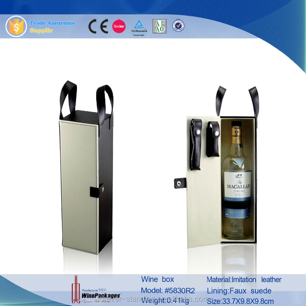 China portable pu leather beer bottle hanging wine carrier