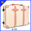 Lovely fashion rose women leather-trimmed fiberboard travel trolley carry-on luggage allowed for US flights