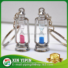 hot sale hourglass keychain metal hourglass keyrings best gifts