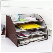 new arrivel pu leather letter trays stackable desk trays