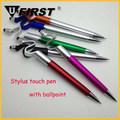 Multifunctional Touch Screen Rubber Tip Stylus Pen With Plastic Ballpoint Pen