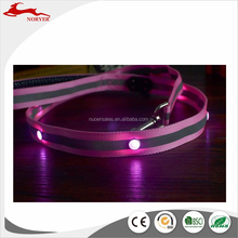 2017 China supplier cheap custom adjustable led glowing dog collar and strap