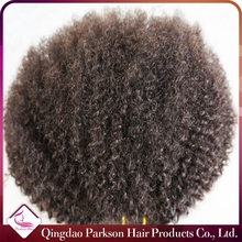 Factory products peruvian afro kinky curly 8-30inch top quality 6A unprocessed human hair