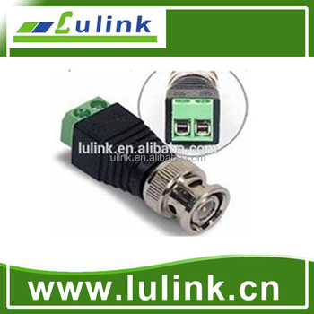 BNC DC RCA Male or Female Plug With Terminal Block Connector for CCTV