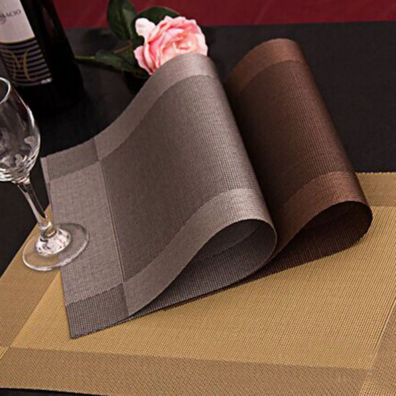4 Pcs Placemat fashion pvc dining table mat disc pads bowl pad coasters waterproof cloth slip-resistant