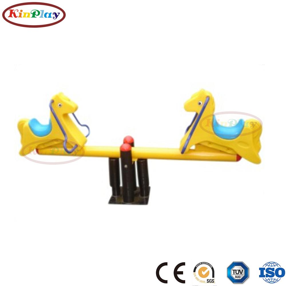 KINPLAY brand outdoor playground equipment galvanized colorful seesaw