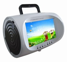 Wholesale OEM nice quality USB TV colorful portable boombox dvd player