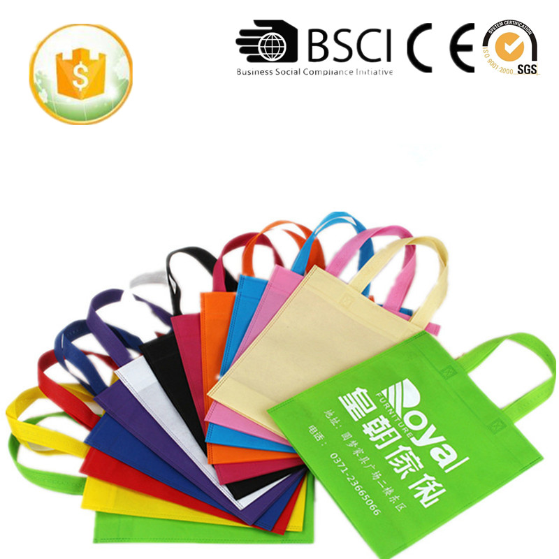 Cheapest Handle Style foldable non woven shopping bag/pp non woven bag