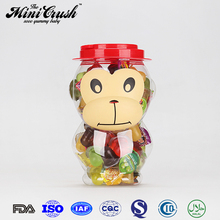 Healthy Food and beverage Monkey candy toys packed Fruit Snacks Mini Fruit Jelly Cup