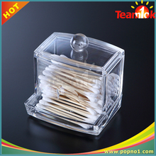 Clear PS Cotton Swab Box/cotton bud holder/container/box