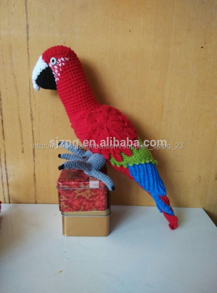 Креатив своими руками вязаные попугайчики 13