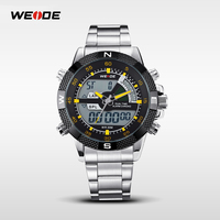 WEIDE LCD Japan Movt Stainless Steel Back Sr626SW Watch