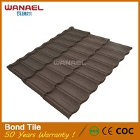 New Zealand quality colorful stone chip coated steel roofing tile manufacturer in Guangzhou