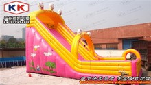 Good Price Commercial Large Pink Inflatable Slide for fun city