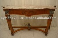 antique reproduction console table