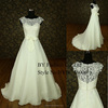 New Arrival Real Sample Wedding Dress 2016 Prom Dress Big White Bowknot Lace Cocktail Half Sleeves Dress