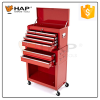 2015 Promotion Multifunction 8 Drawers Wheel Tool Box Roller Cabinet
