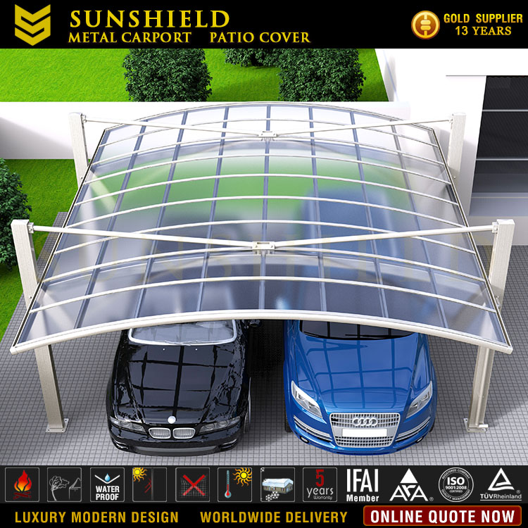 Outdoor Cantilever Carports Garages With Polycarbonate Roof