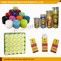 Best Quality fast shipment paraffin wax candles /tealight candles/religious candles /white candles for decoration .