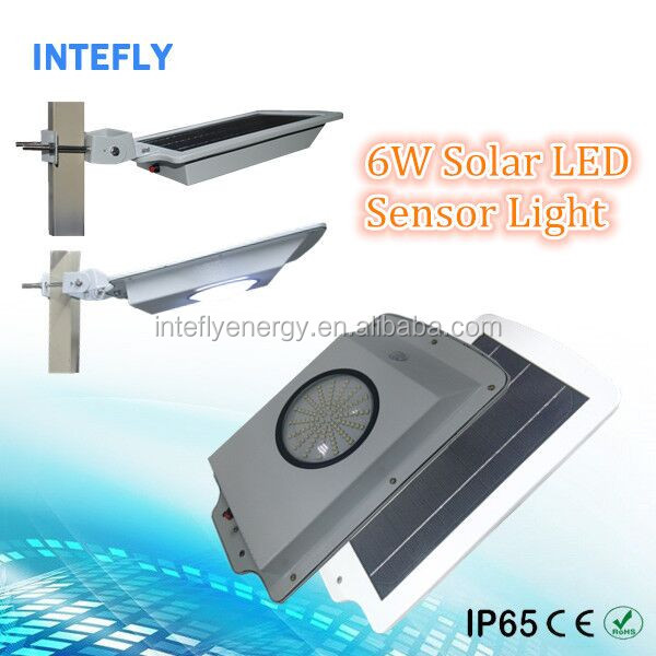 All In One Solar LED Street Light with Pole, 6w Solar Garden Lamp Best Selling LED Outdoor Lights