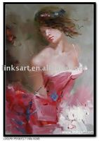 Female Body Oil Painting-Girl Nudy Oil Painting