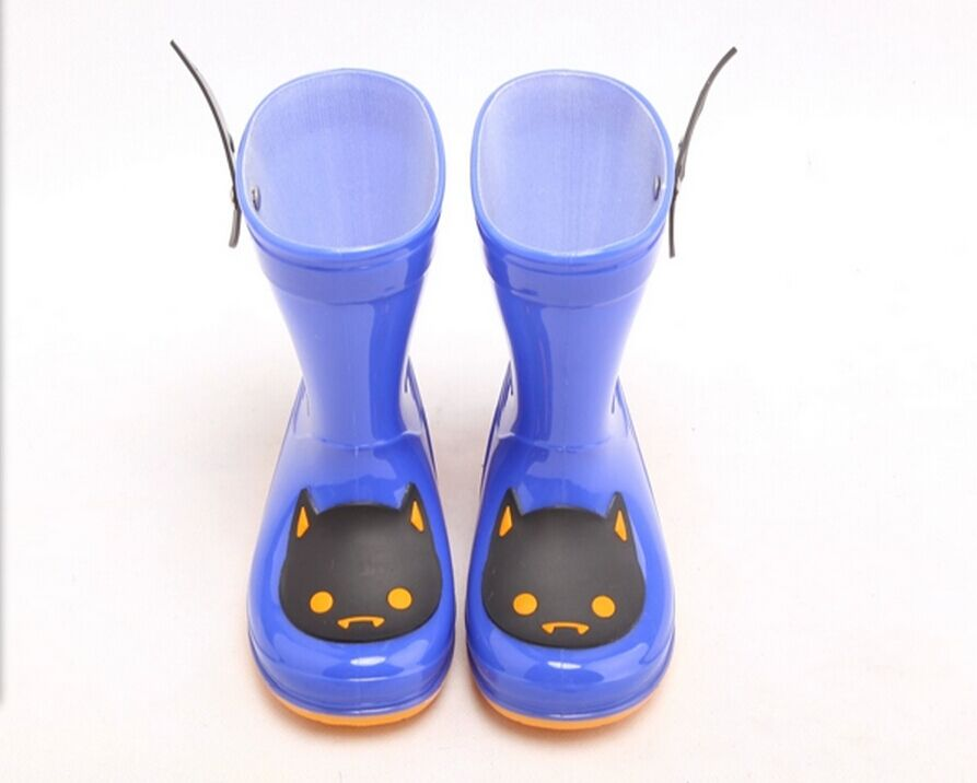 Fashion Cute kids PVC rain boots girls Match with kids rain coat kids Christmas gift PVC rain shoes