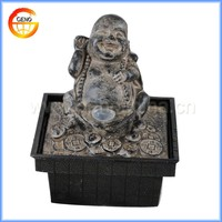 GRC waterfall buddha water ornament with led