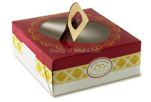 Cake takeaway box with handle