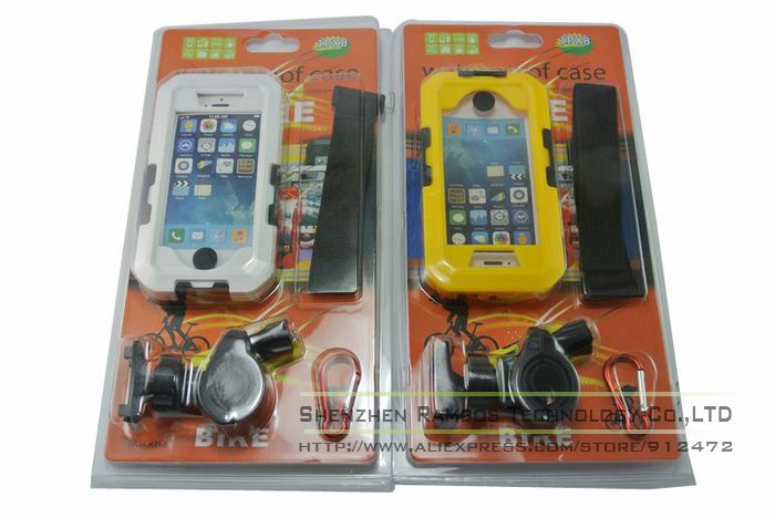 Bike Motorcycle mount Holder water Resistant Mobile Phone Case holder Stand For iphone4 4S 5 5s