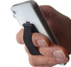 finger strap cell phone holder with side pockets