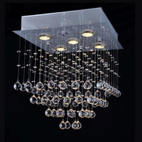 Square Crystal Chandelier Lighting With CE certificate