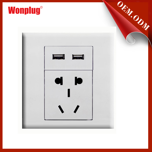 High Quality Usb Wall Socket 240v With Dual Usb Outlet