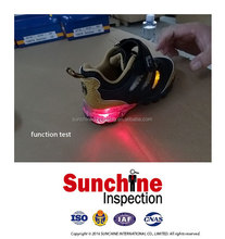 Casual Shoes QC Inspection, LED Light Sport Shoes Pre-Shipment Inspection Service