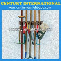 mop and broom holder,mop broom holder,magic holder in plastic for garden tools