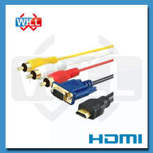 OEM supplier high speed 1.4v 3 rca to hdmi cable with 1080p