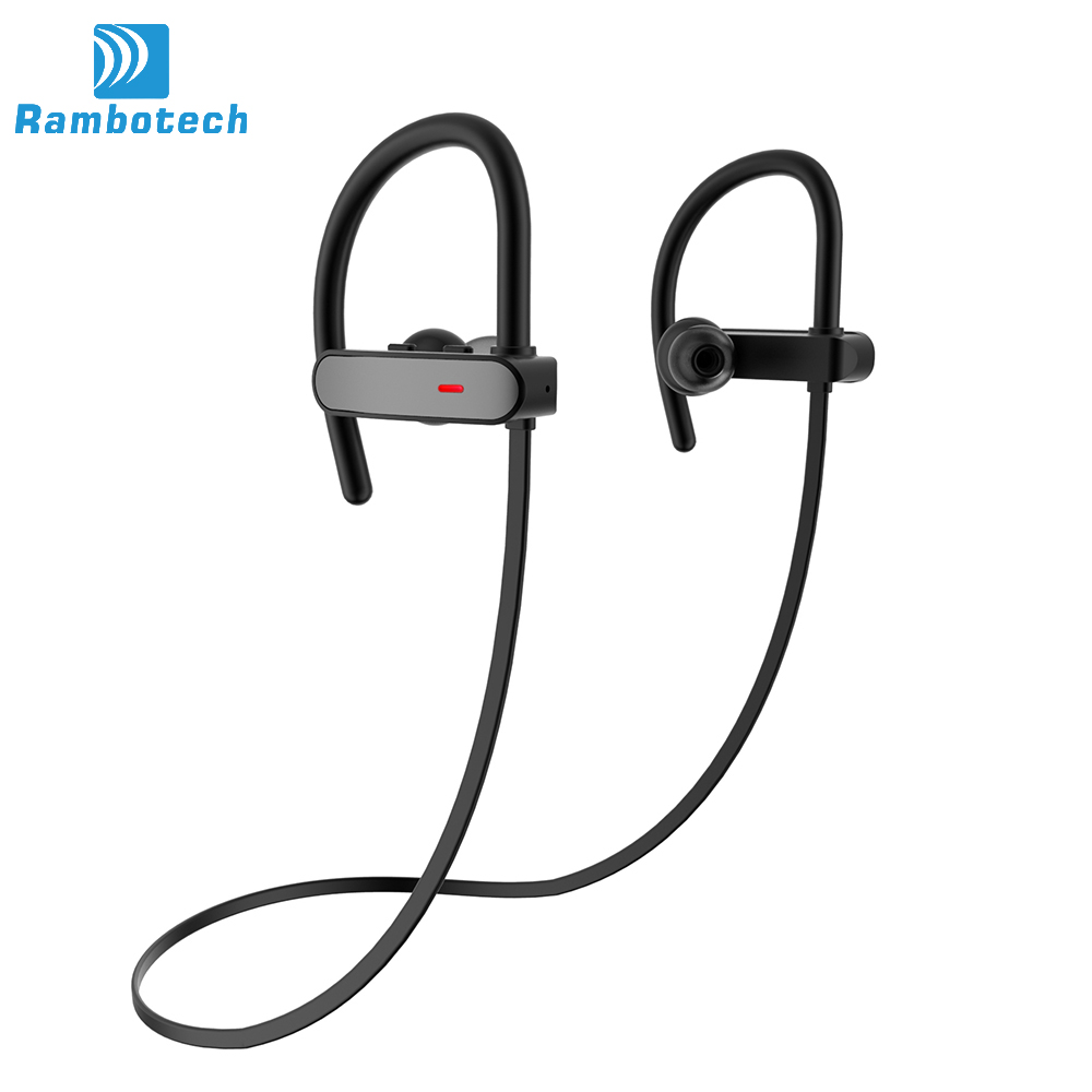RU10-Sports Bluetooth Headset Stereo Earphone Wireless Headphones with Microphone Handsfree