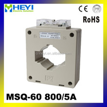 Plastic case current transformer with busbar 800/5a CT MSQ-60