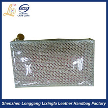 Newly best seller clear plastic cosmetic zipper bag with handle