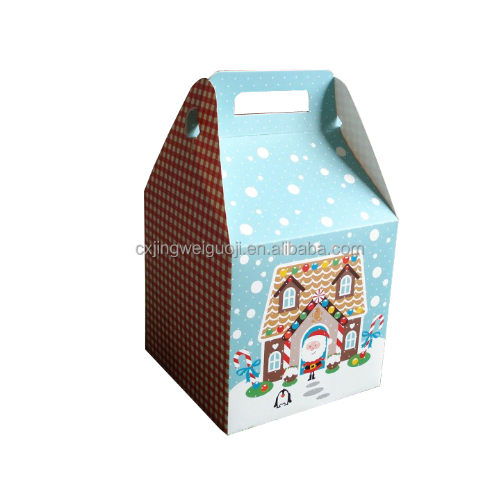 Christmas decorative empty paper folding sweet chocolate candy box