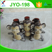 Cute animal monkey toothbrush holder for bathroom decoration