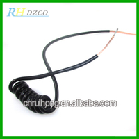 Factory sales wholesale price coiled handset cords made in china