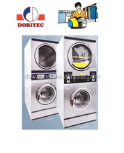 Coin Operated Commercial Stack Washer And Dryer 15kg