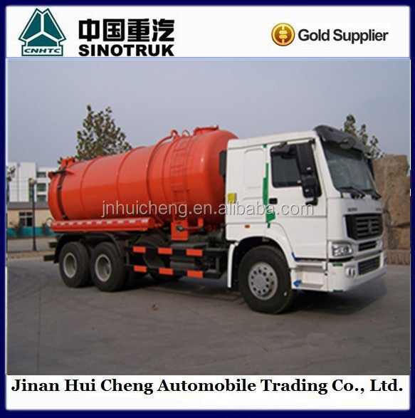 6x4vacuum pump sewage tanks vacuum sewage suction and cleaning truck